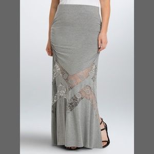 NWT NEW TORRID Long Lace Inset Maxi Skirt